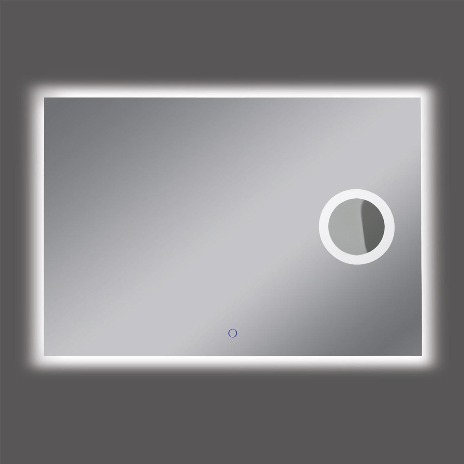 LED-Wandspiegel Olivia, 110x75 cm, 4.000 K, Lupe