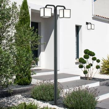 Lampione LED Cubango con due paralumi cubici