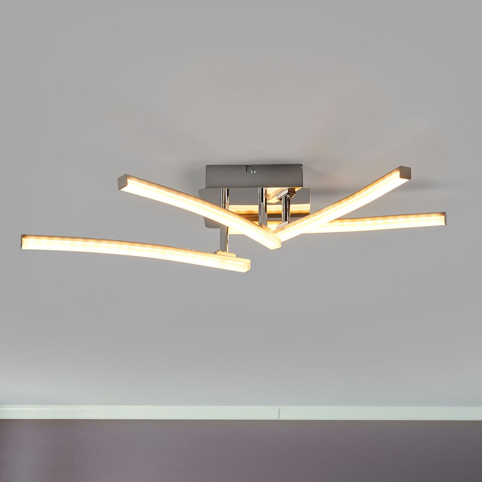 Draaibare armen - LED-plafondlamp Simon