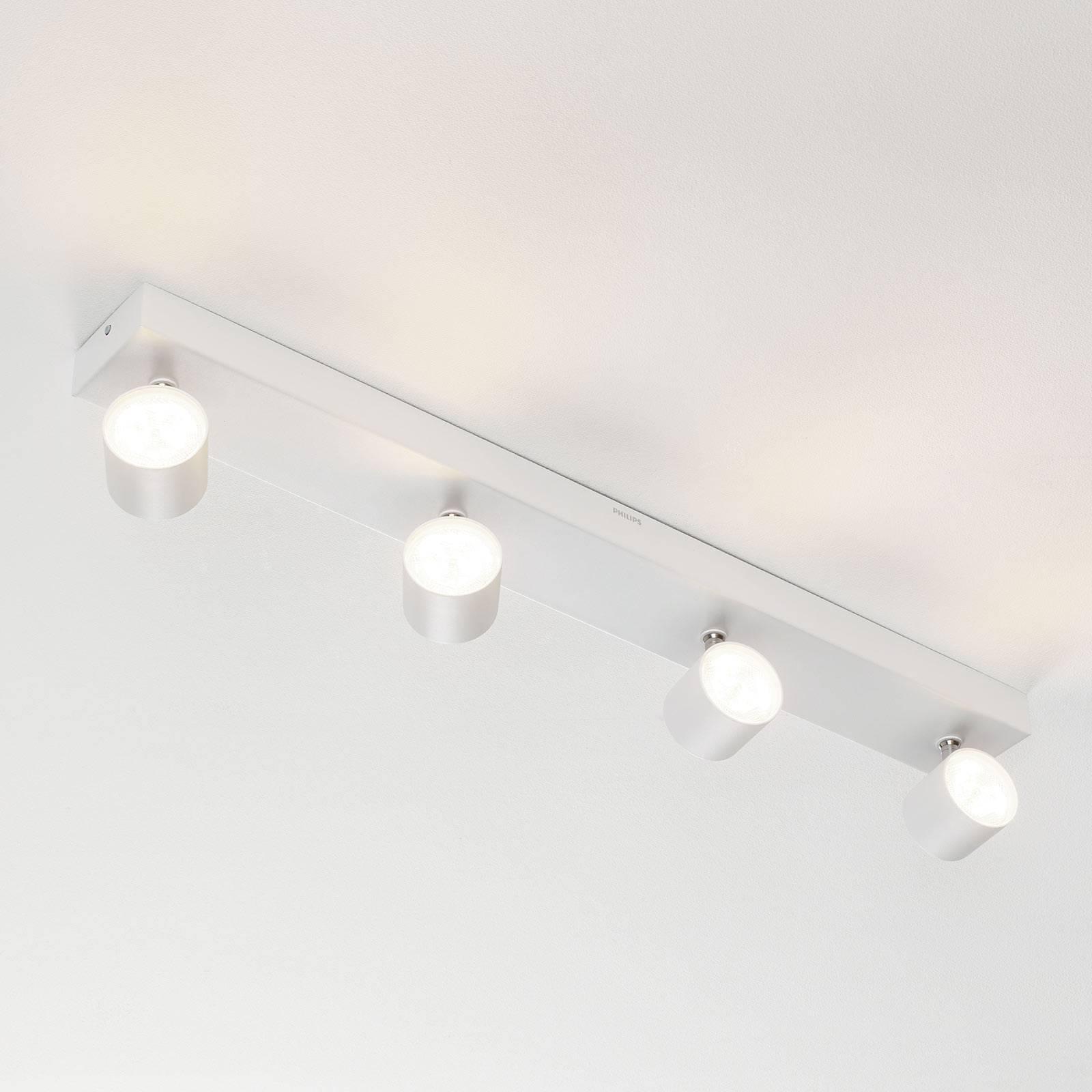 Quadruplo spot LED Star, warmglow, bianco