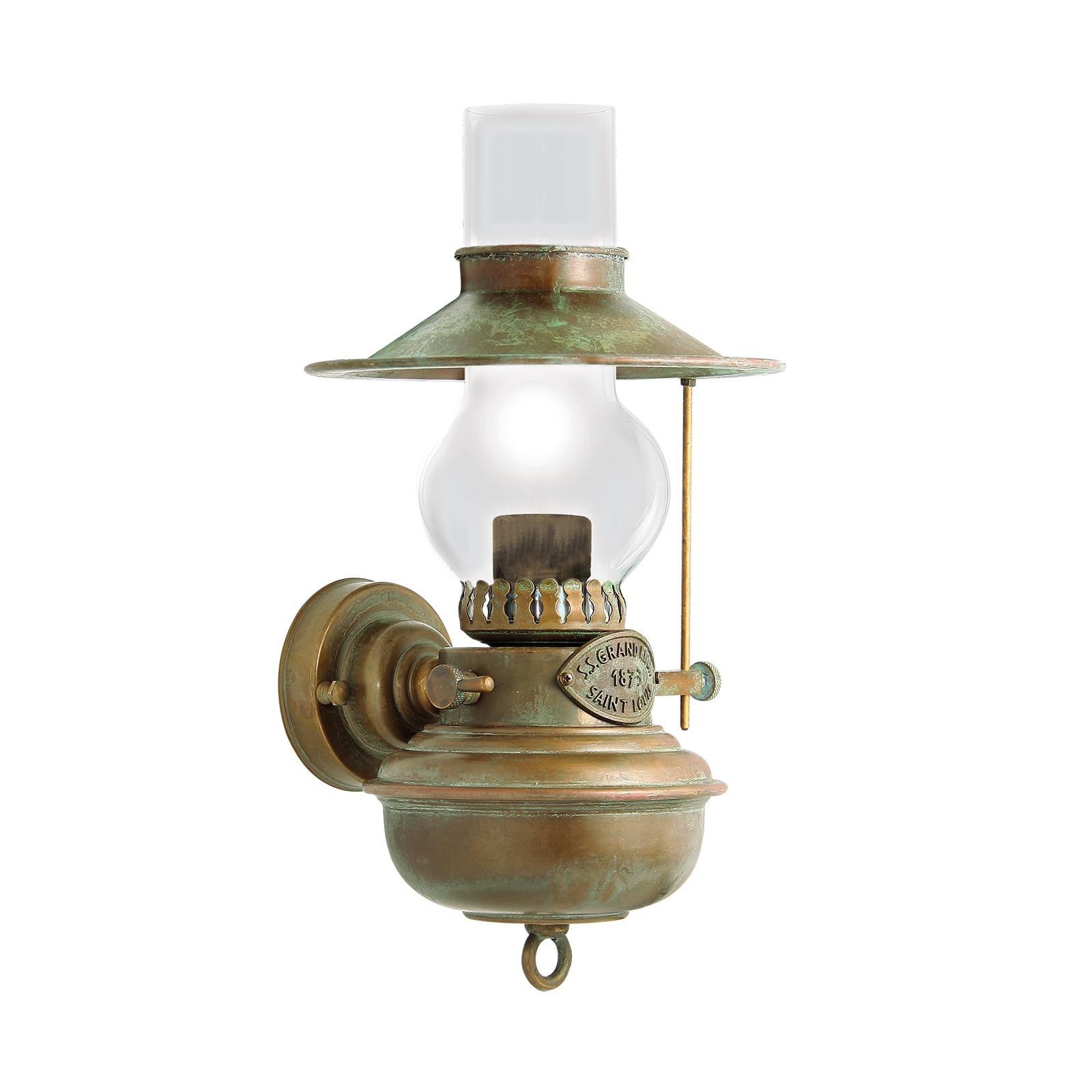 Vegglampe Guadalupa i oljelampeoptikk