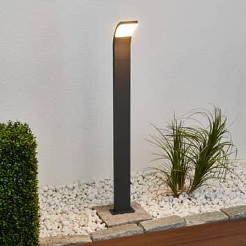 Grafitfarbene LED-Wegeleuchte Timm, 100 cm