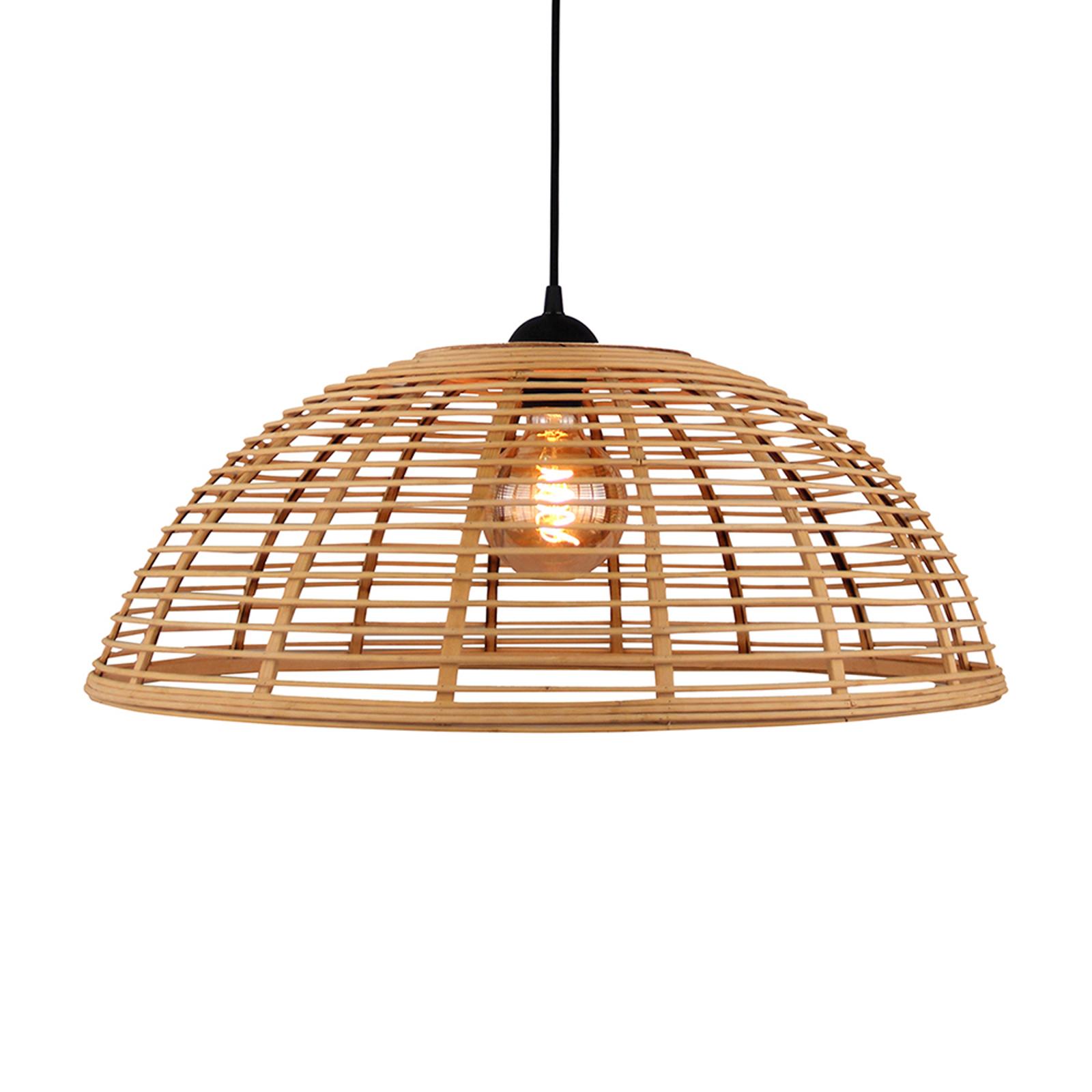 Hänglampa Crosstown, bambuskärm ljus, Ø 48 cm