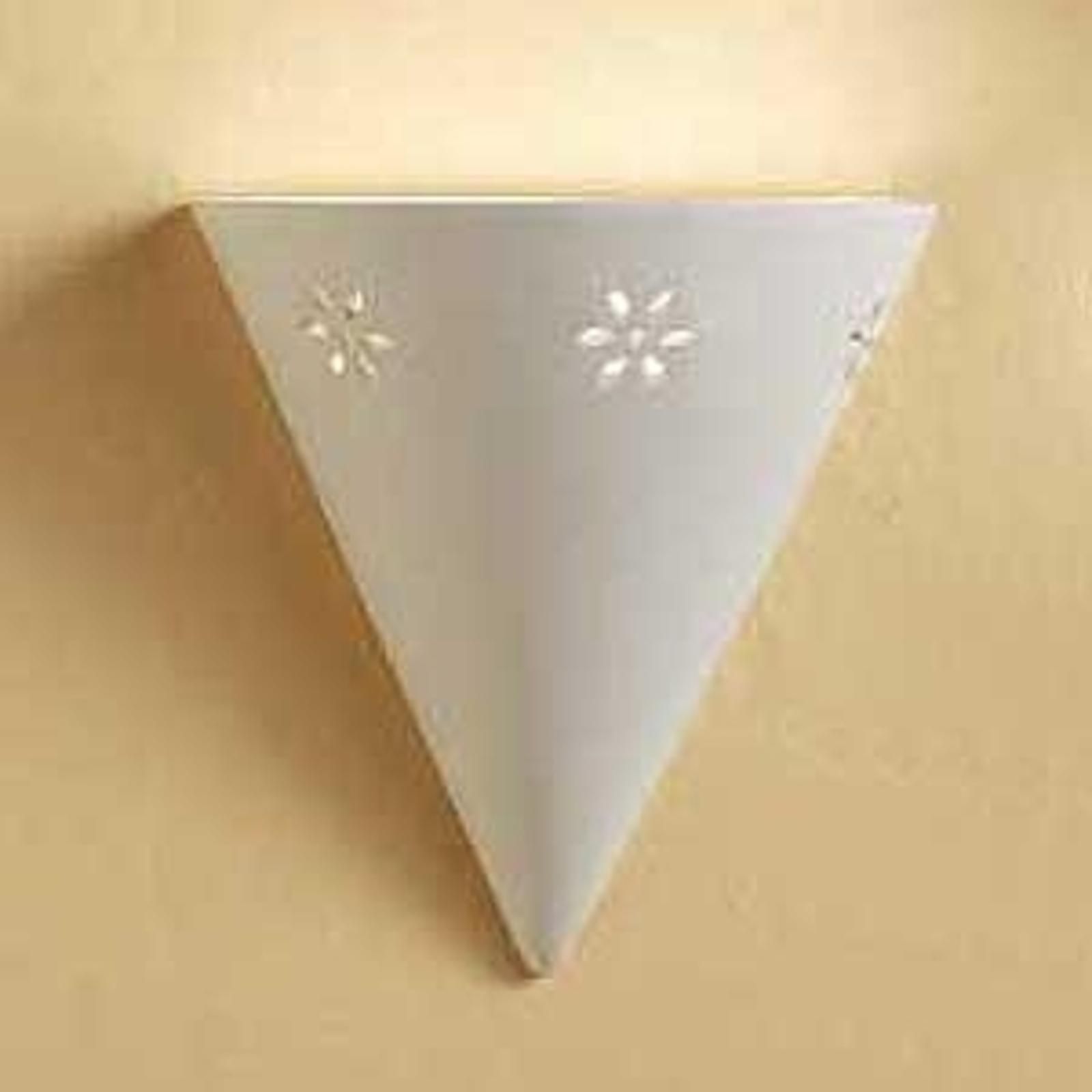 Statige wandlamp CONO van wit keramiek