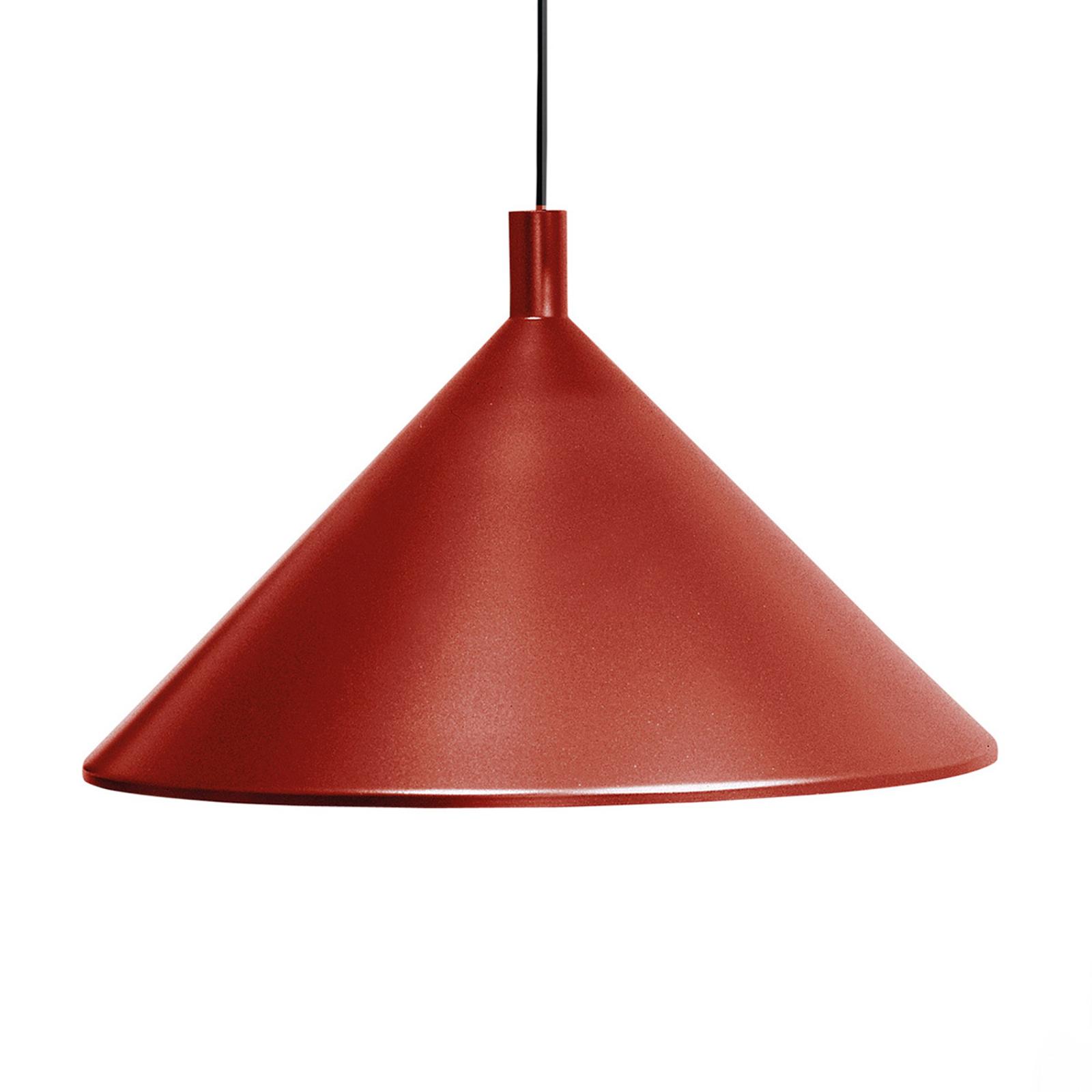 Martinelli Luce Cono Hängeleuchte rot, Ø 30 cm