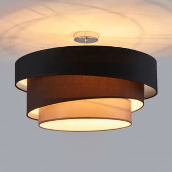 Melia - lampada da soffitto nera e marrone