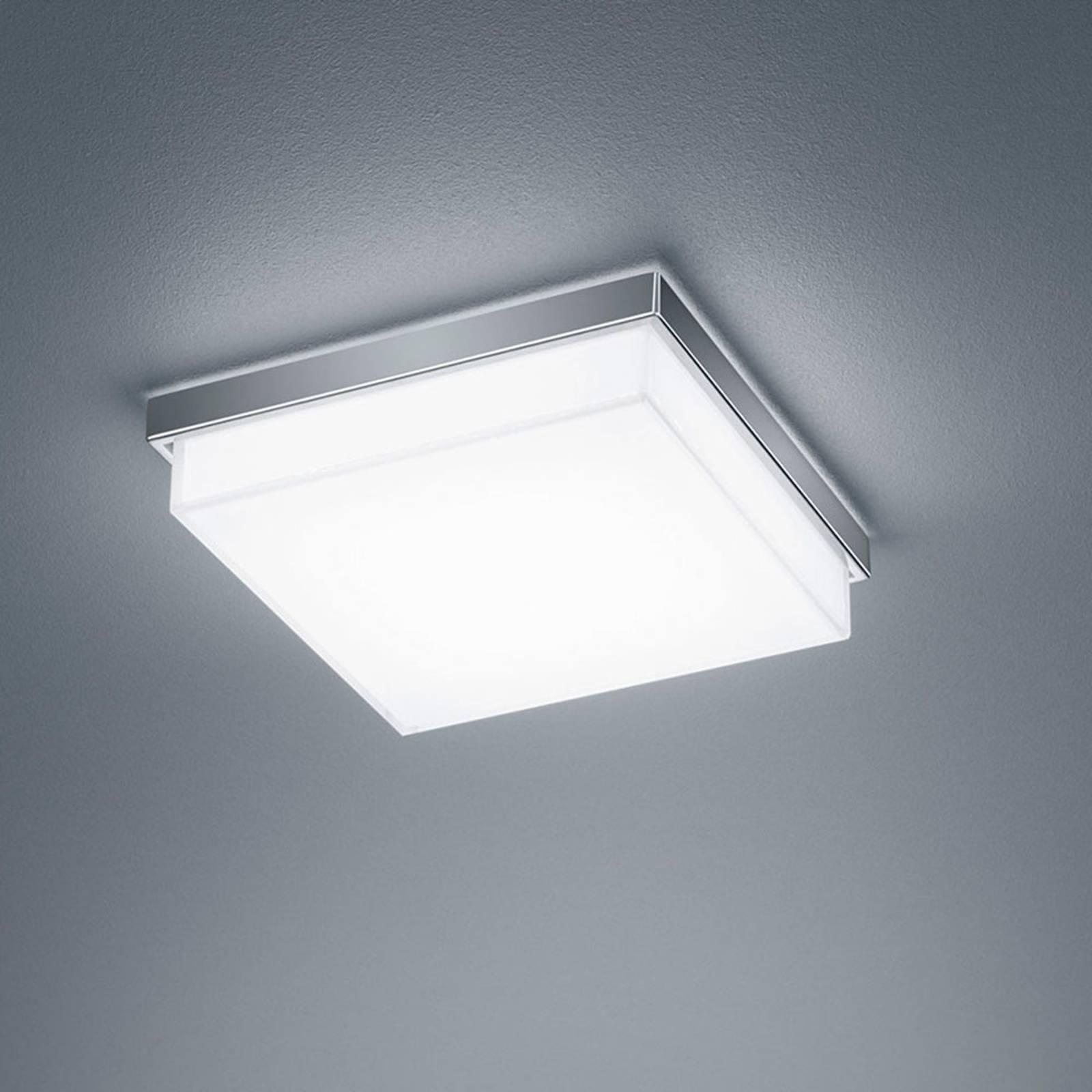 Helestra Cosi LED plafondlamp chroom 21x21 cm