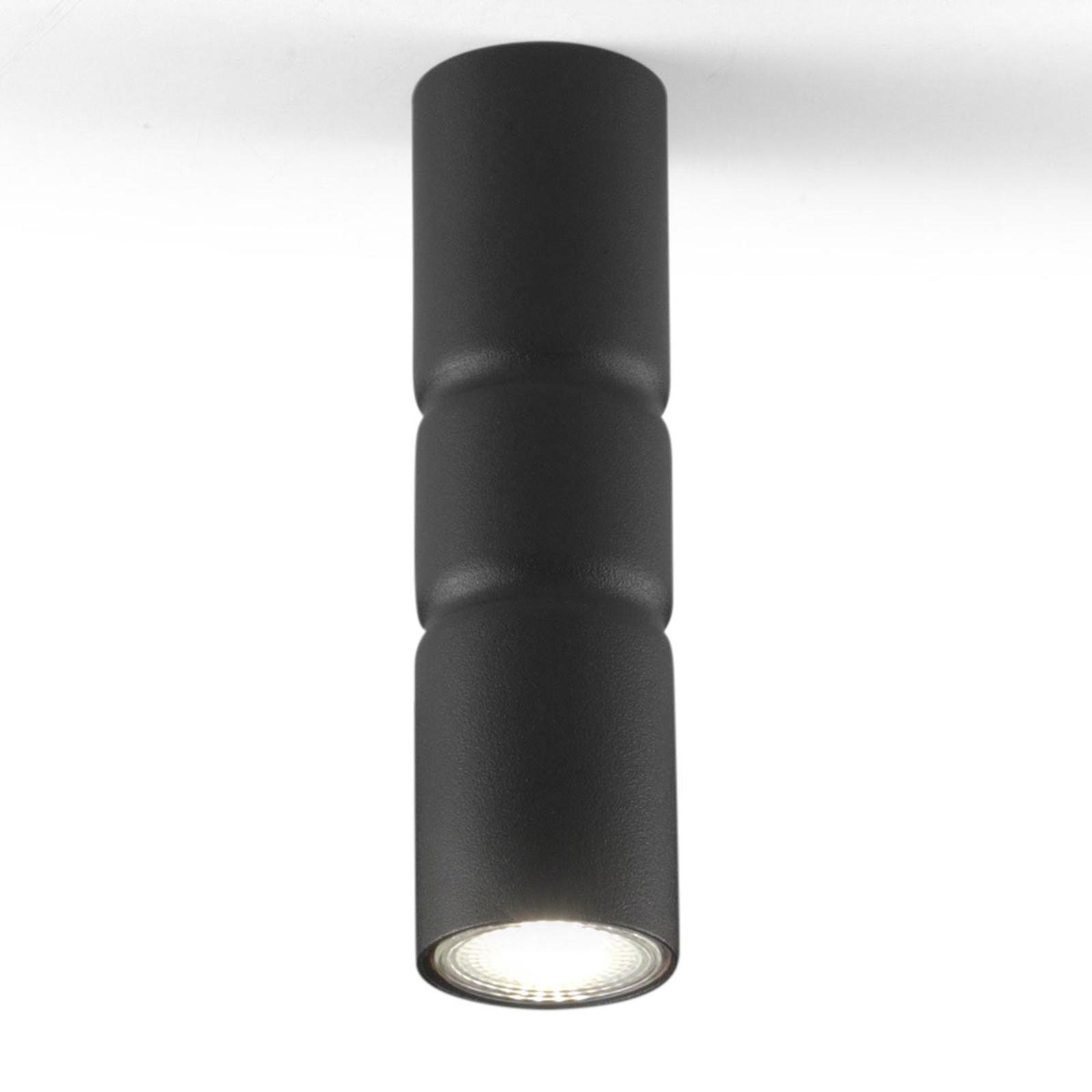 Lampa sufitowa Turbo, stała, czarna