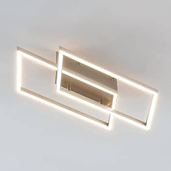 LED-Deckenlampe Quadra, dimmbar, 2-flg., 53,8 cm