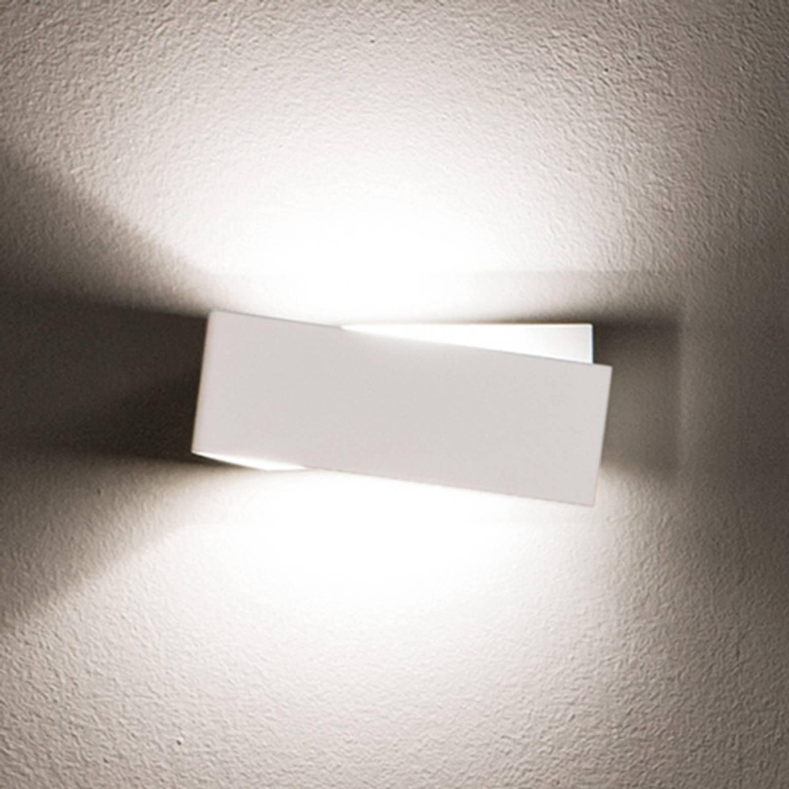 Opvallende wandlamp Zig Zag in wit, 26 cm