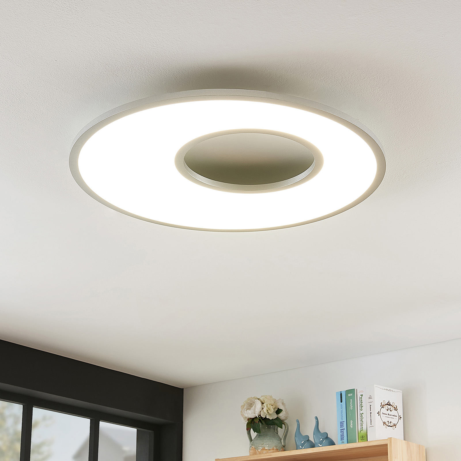 Plafonnier LED Durun, dimmable, CCT, rond, 60 cm