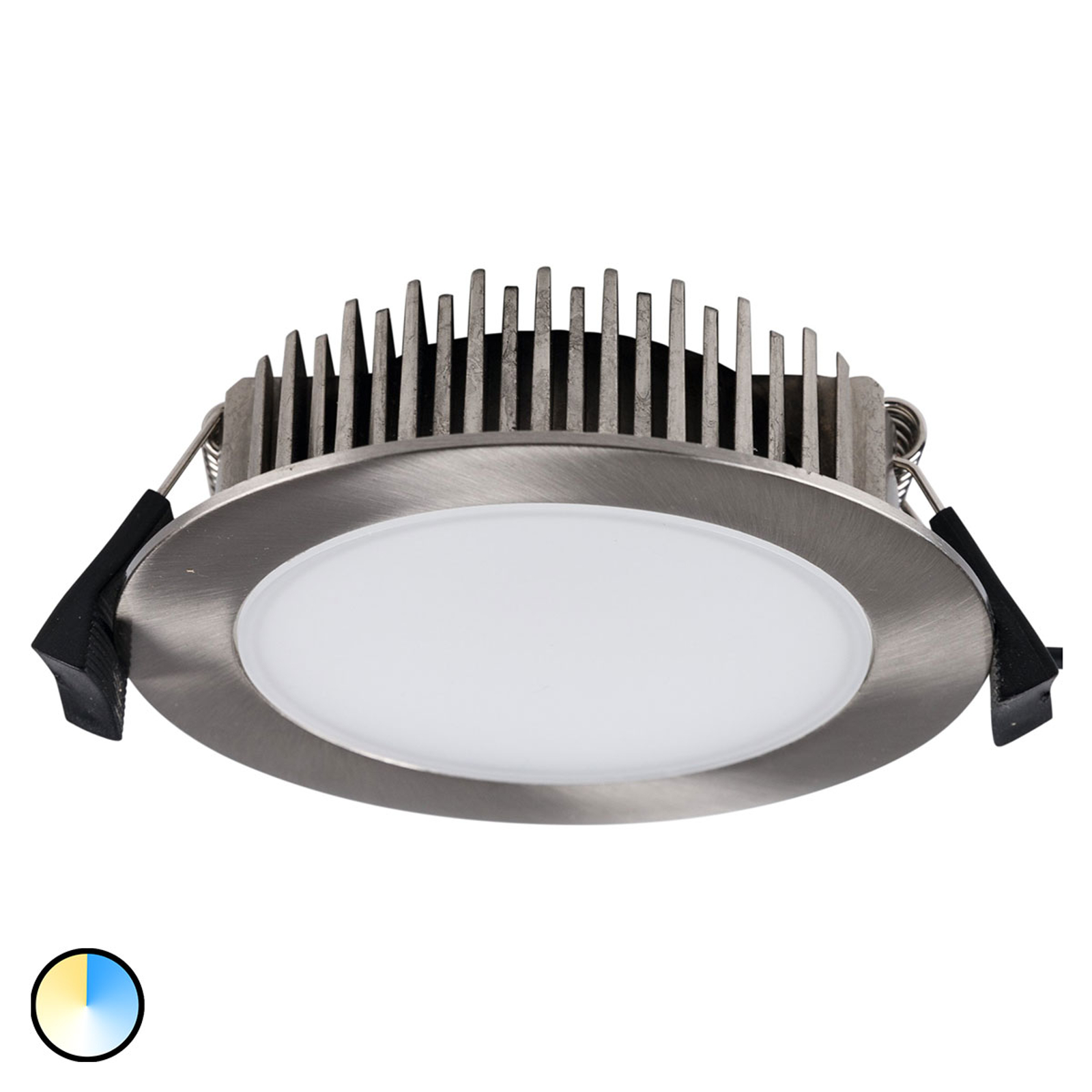 Spot encastré LED Lino 3 000 K-5 700 K 13 W nickel