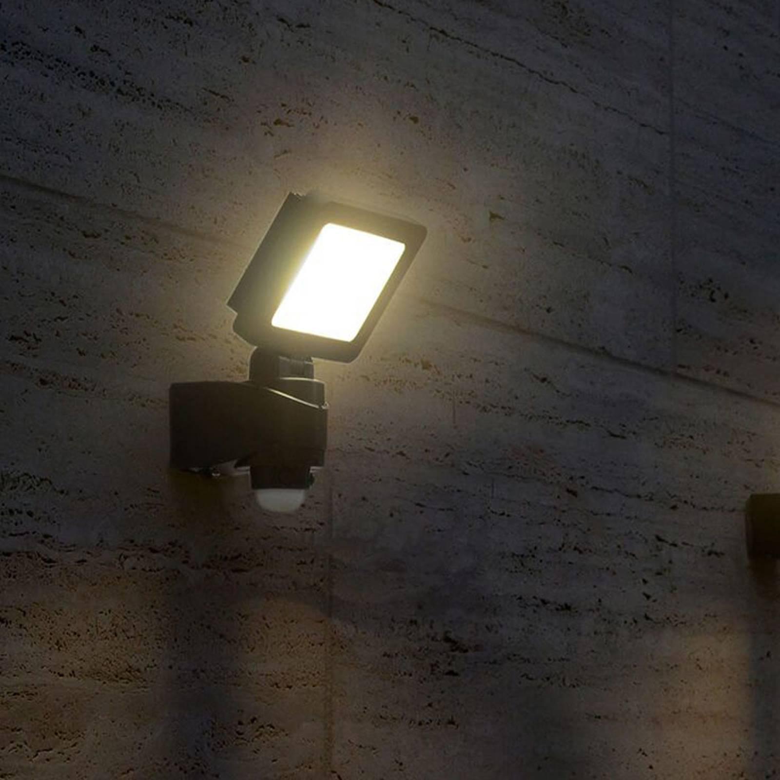 Heldere LED buitenspot Nebraska met sensor
