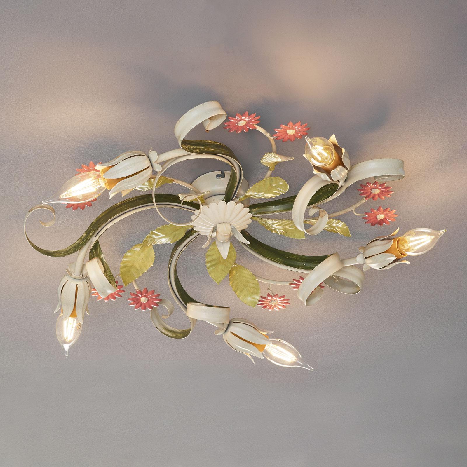Florentijnse plafondlamp Toscane, 5 lampjes