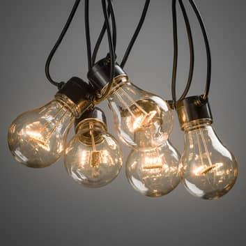 Světelný řetěz Biergarten 10x žárovka čirá jantar