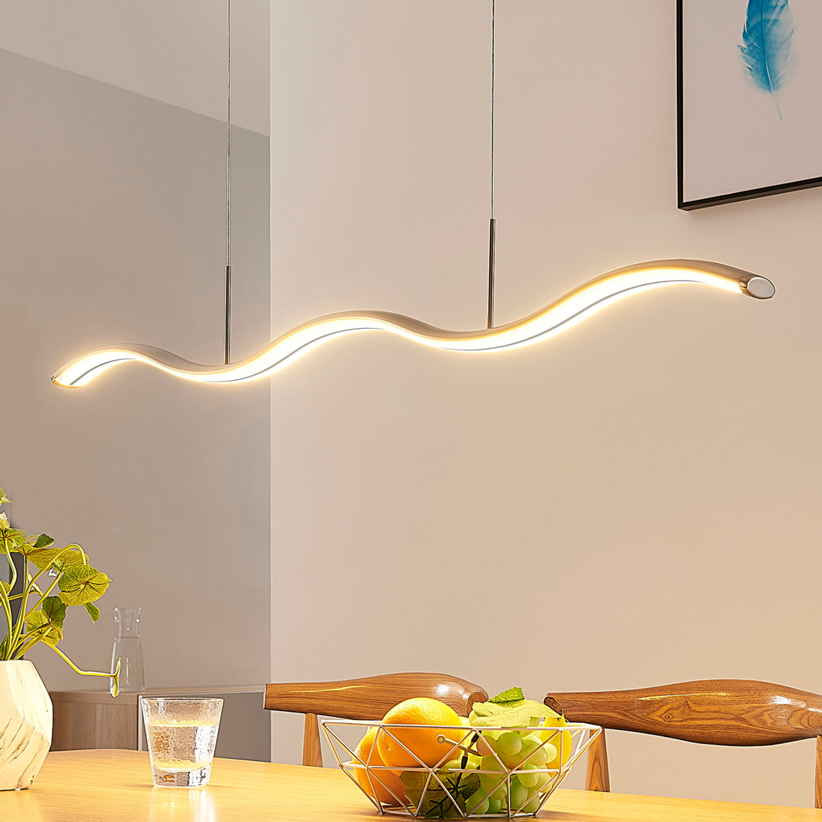 LED-Hängelampe Brama, wellenförmig