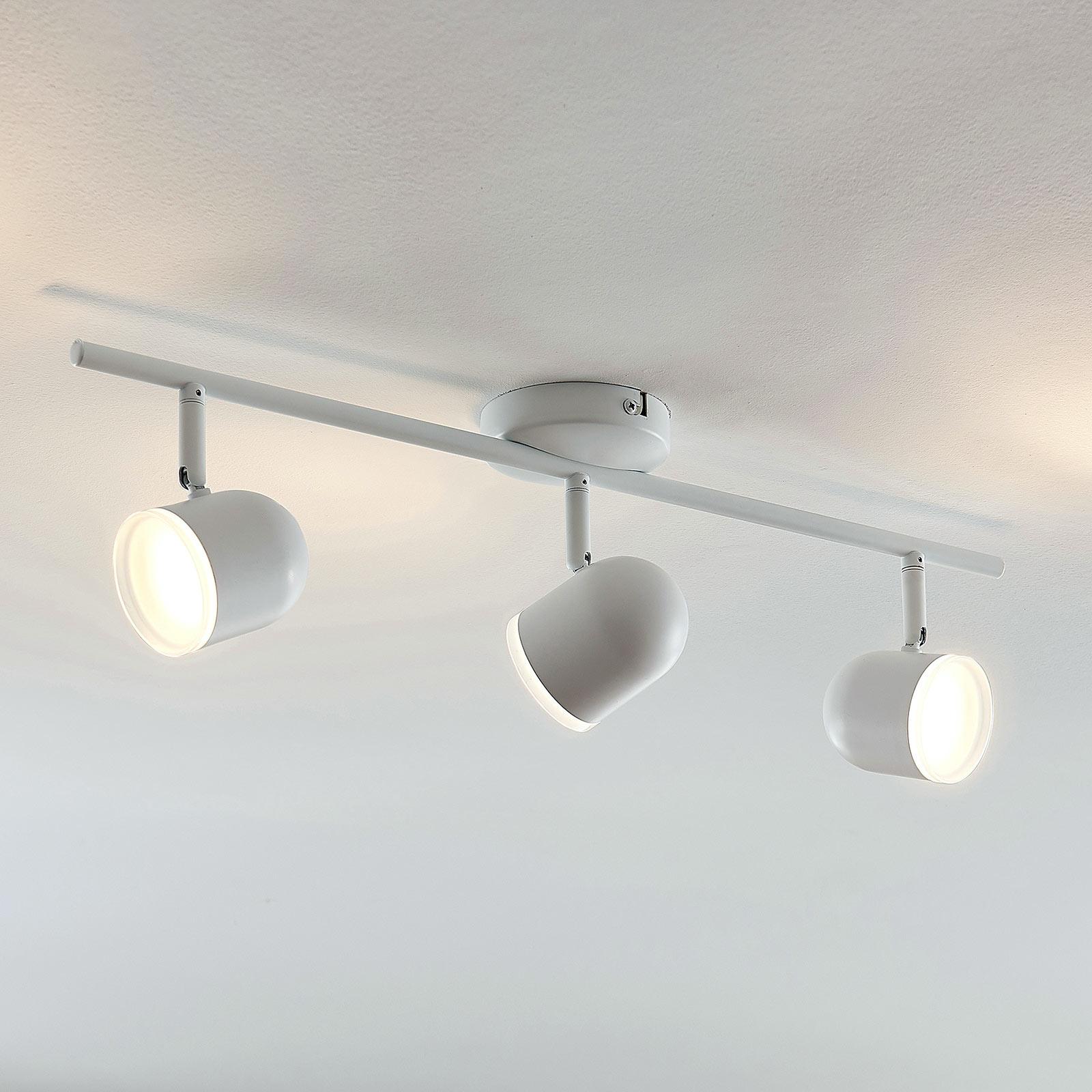 LED plafondlamp Ilka, verstelb, wit, drie lampjes