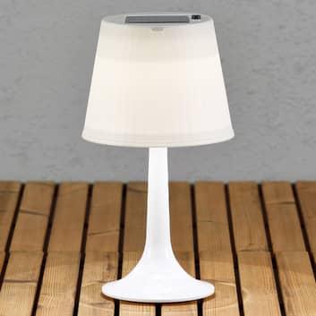 Bílá LED solární stolní lampa Assisi Sitra