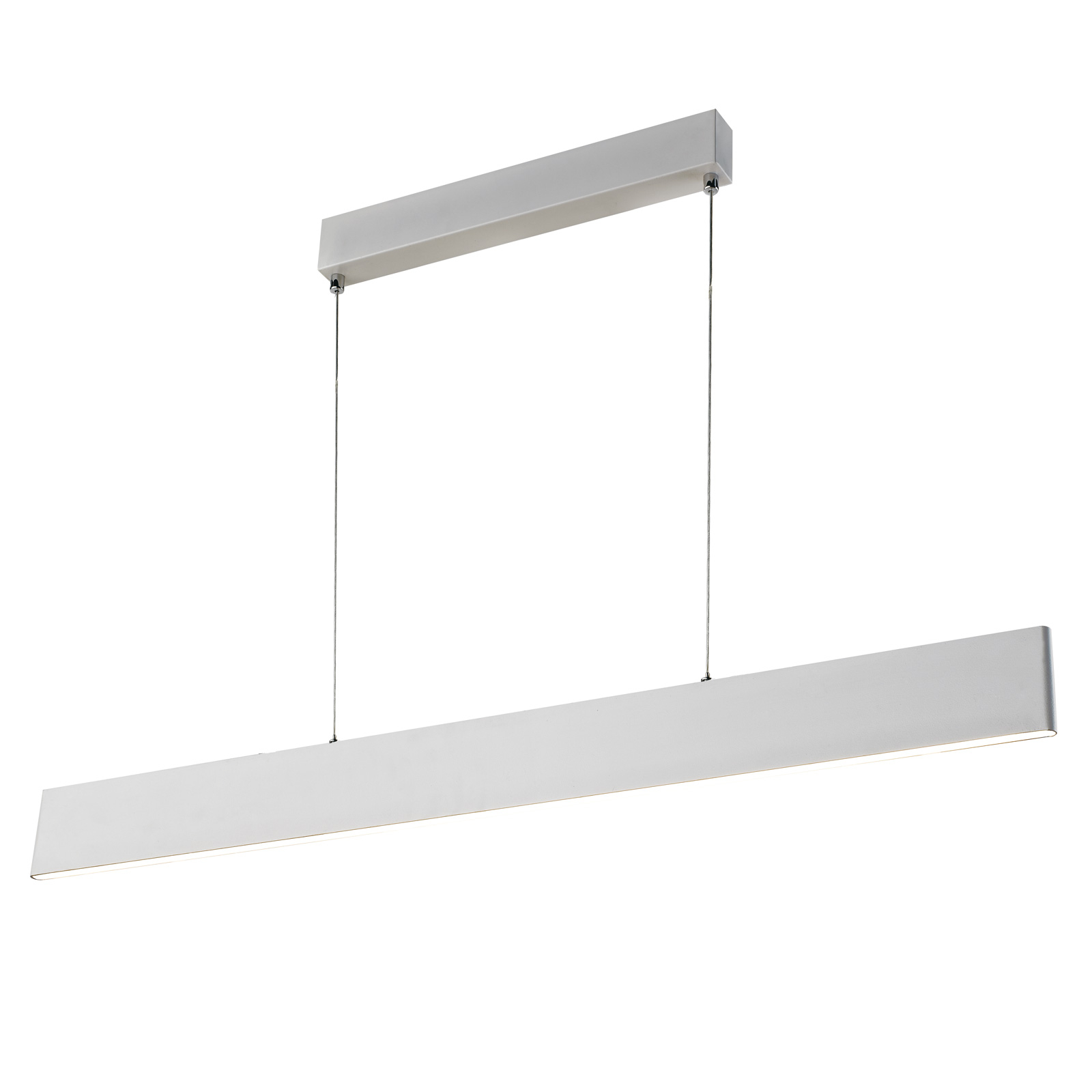 Suspension LED Sileas, 91cm, blanche, dimmable