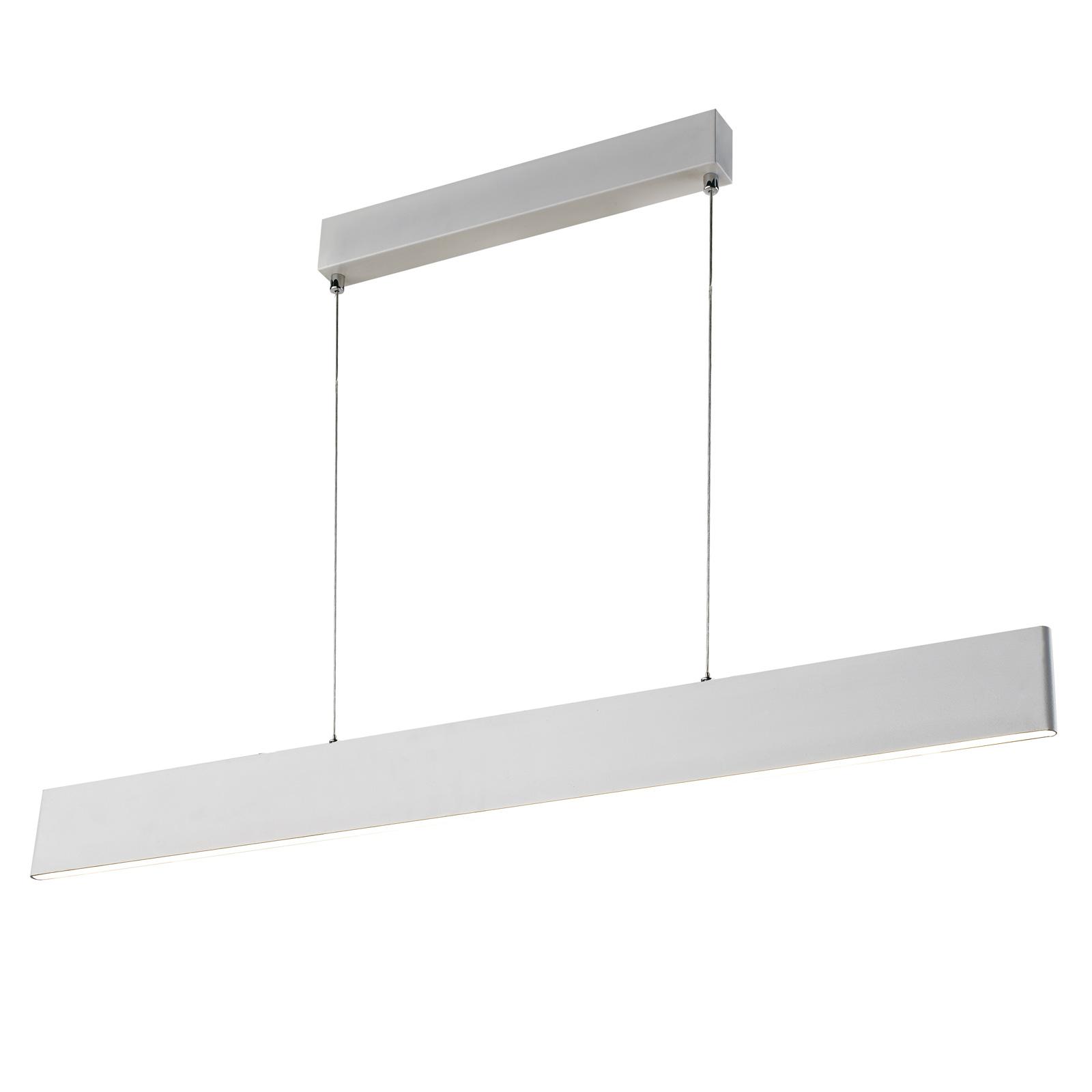 Lampa wisząca LED Sileas, 91 cm, biała, ściemniana
