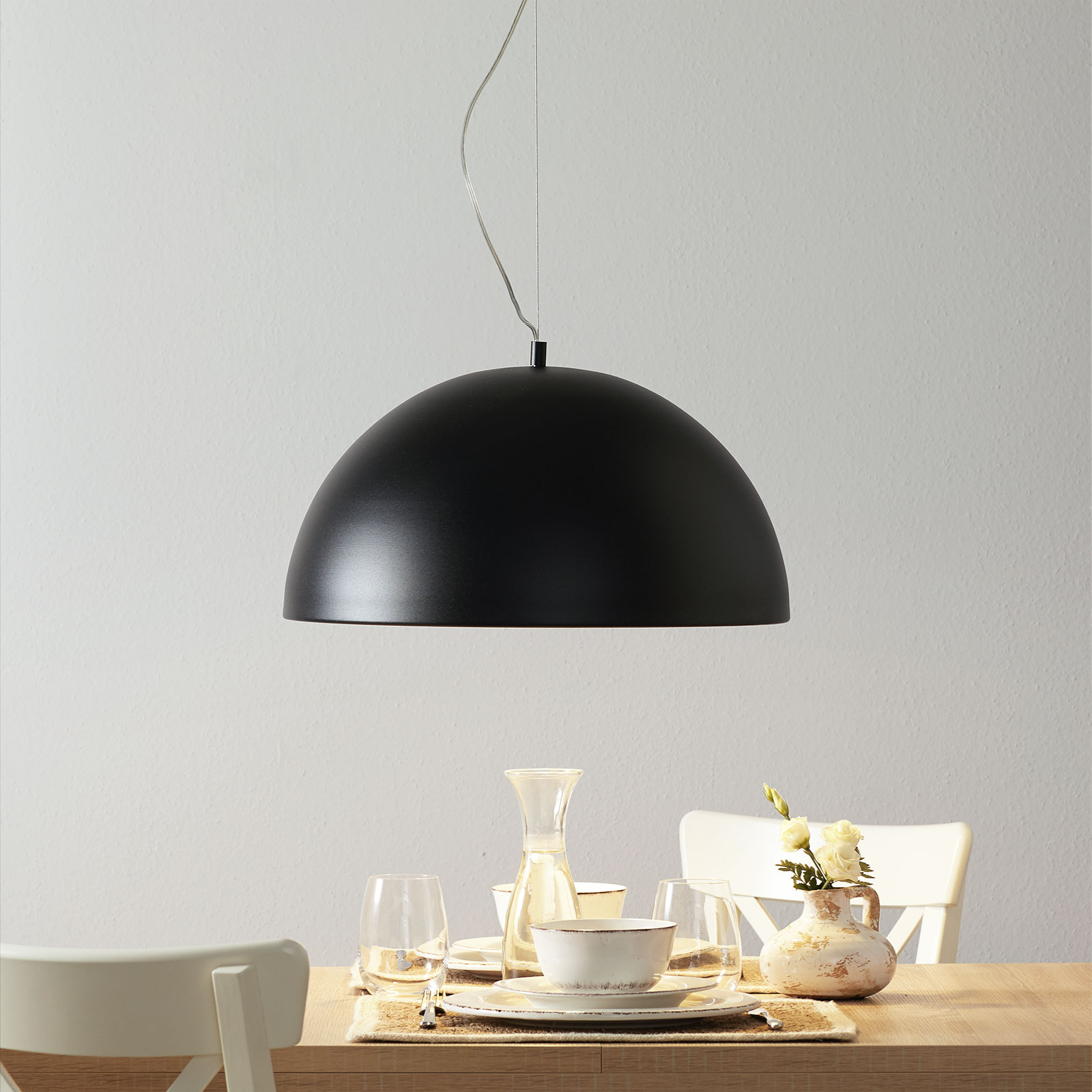 Lucande Maleo suspension 53cm noire