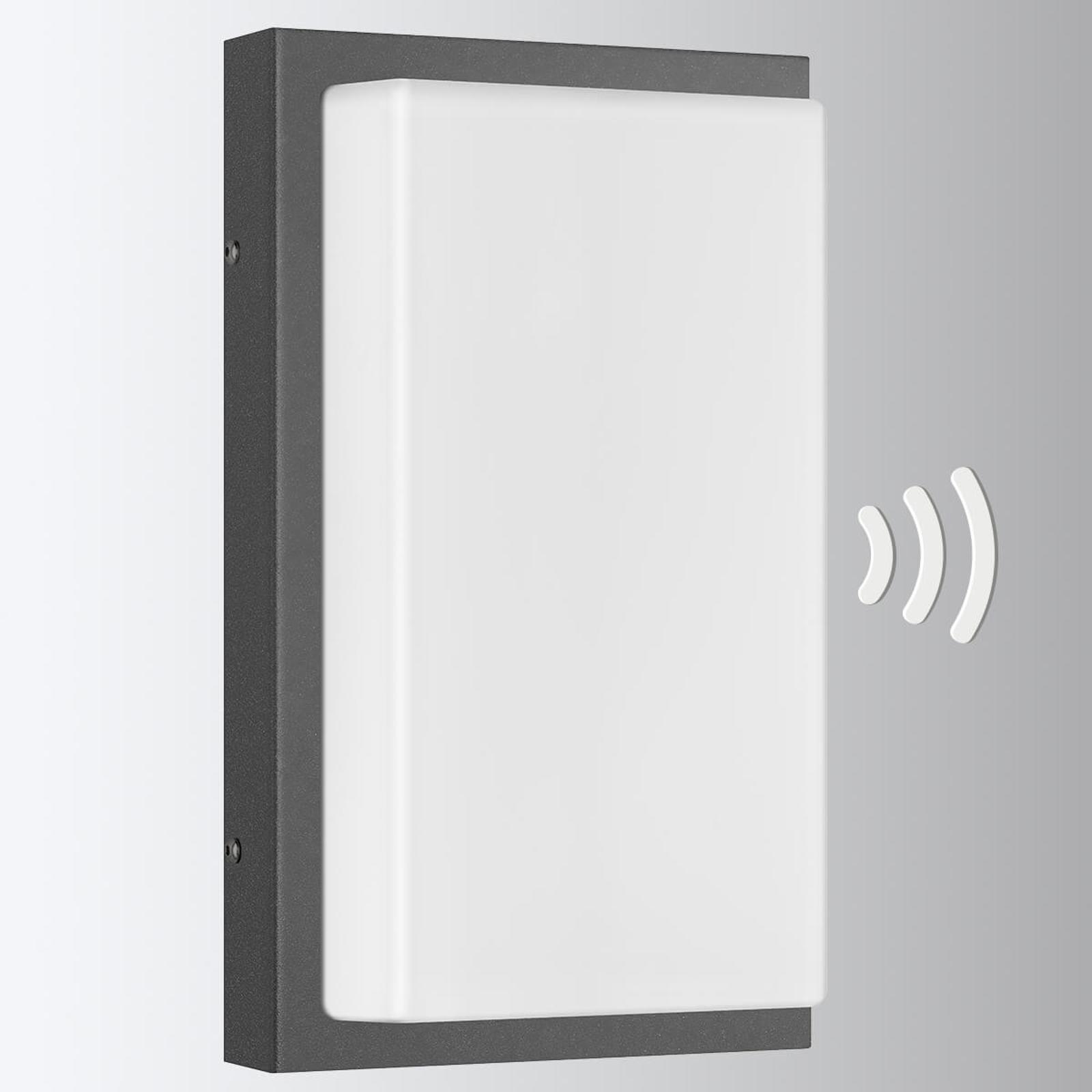 Außenwandlampe Babett E27 mit Sensor graphit