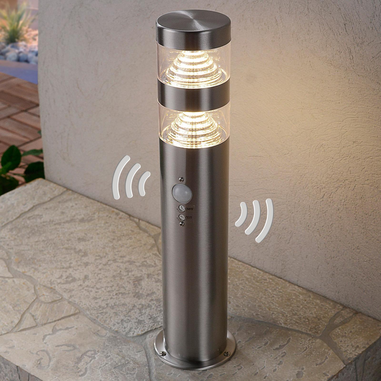 Luminaire pour socle LED Lanea en inox à détecteur