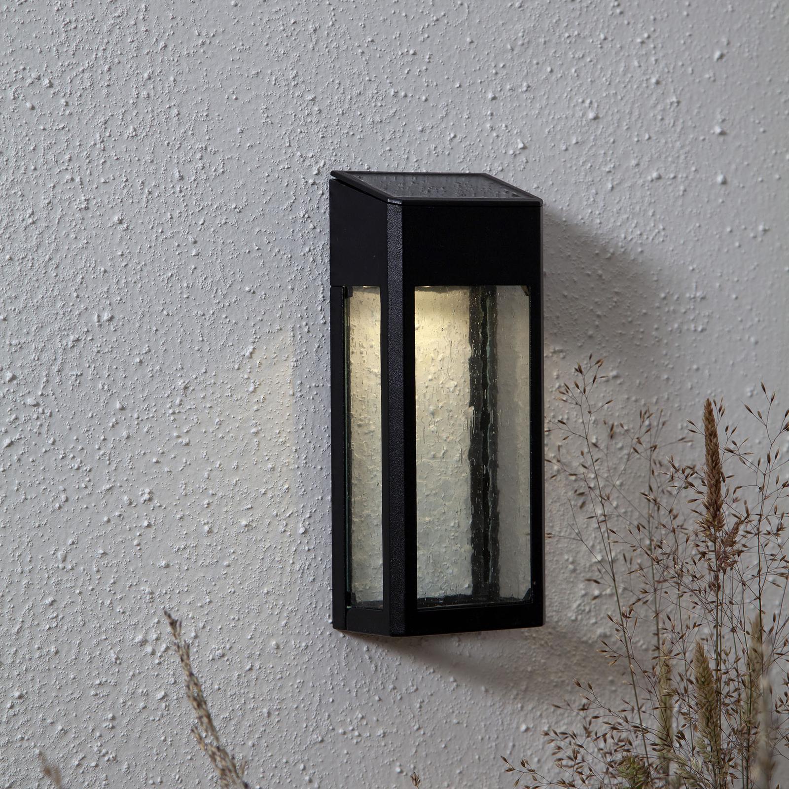 Wally LED-væglampe med solcelle af aluminium