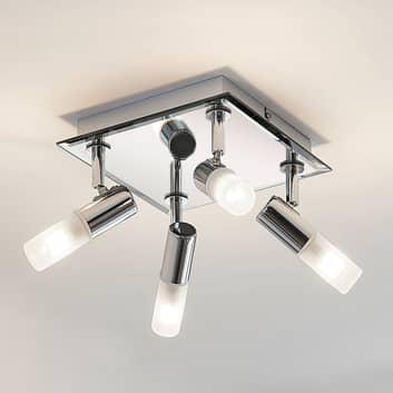 Lámpara de techo para baño Zela 4 brazos 32 x 32cm