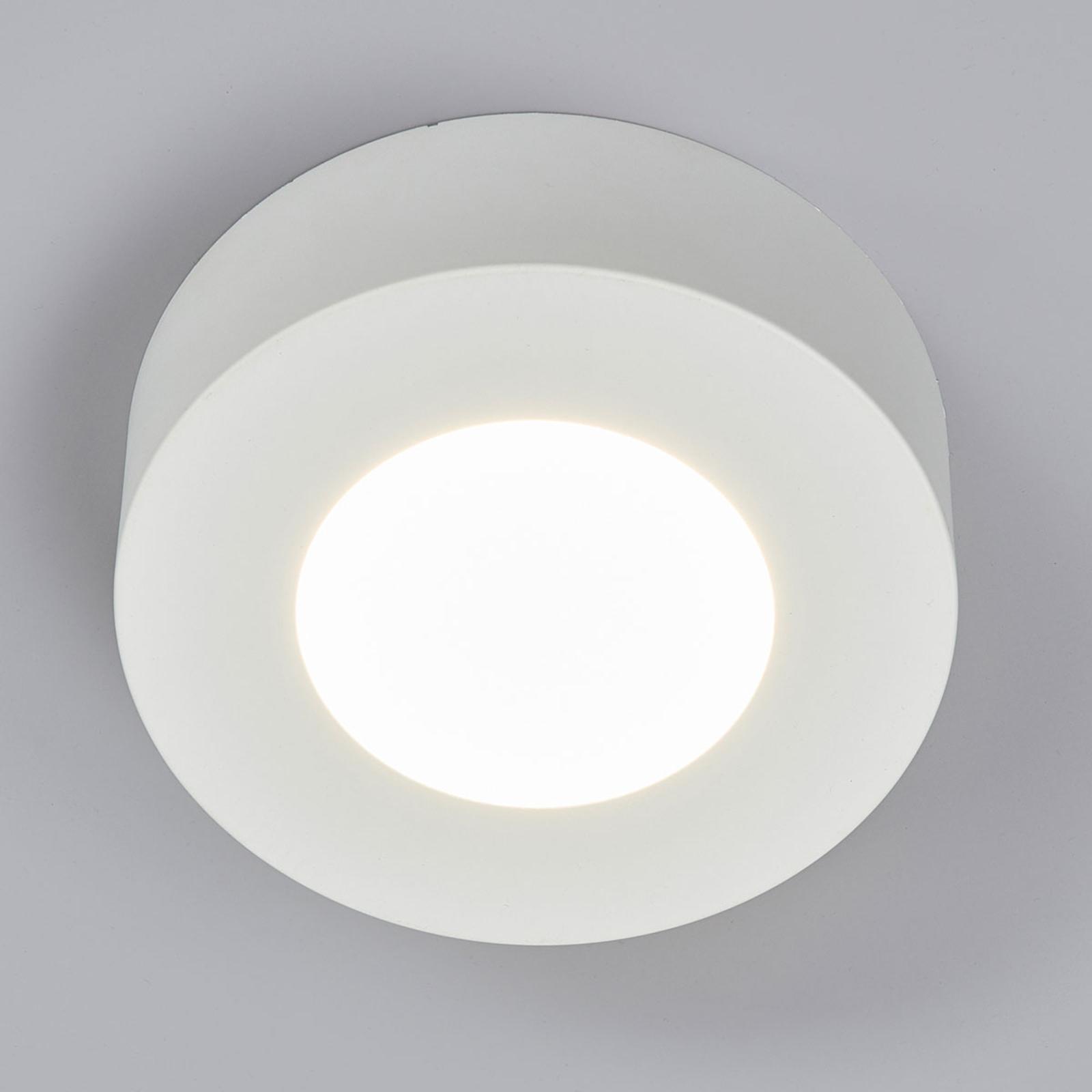 LED-taklampe Marlo, hvit, 4000K rund 12,8cm