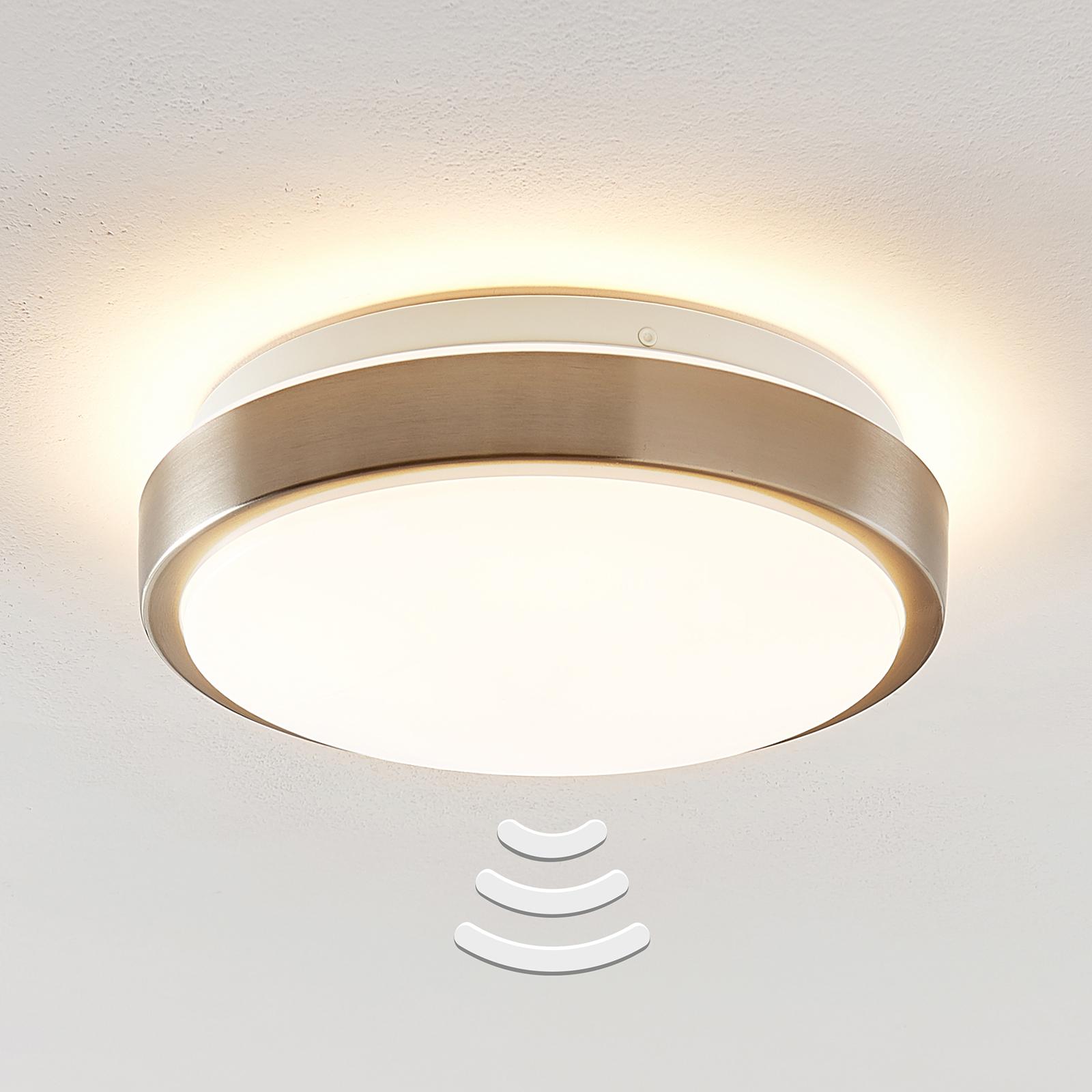 Lindby Camille LED-loftlampe sensor Ø 26 cm nikkel