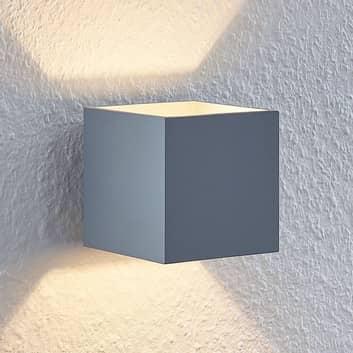 Lindby Mirza nástěnné světlo, hranaté, šedé