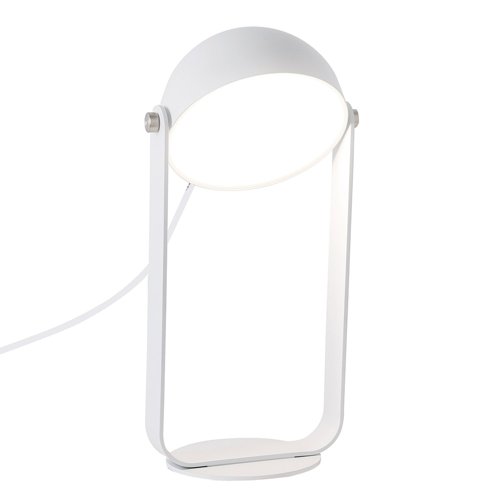 LED-Tischleuchte Hemi schwenkbarer Schirm weiß