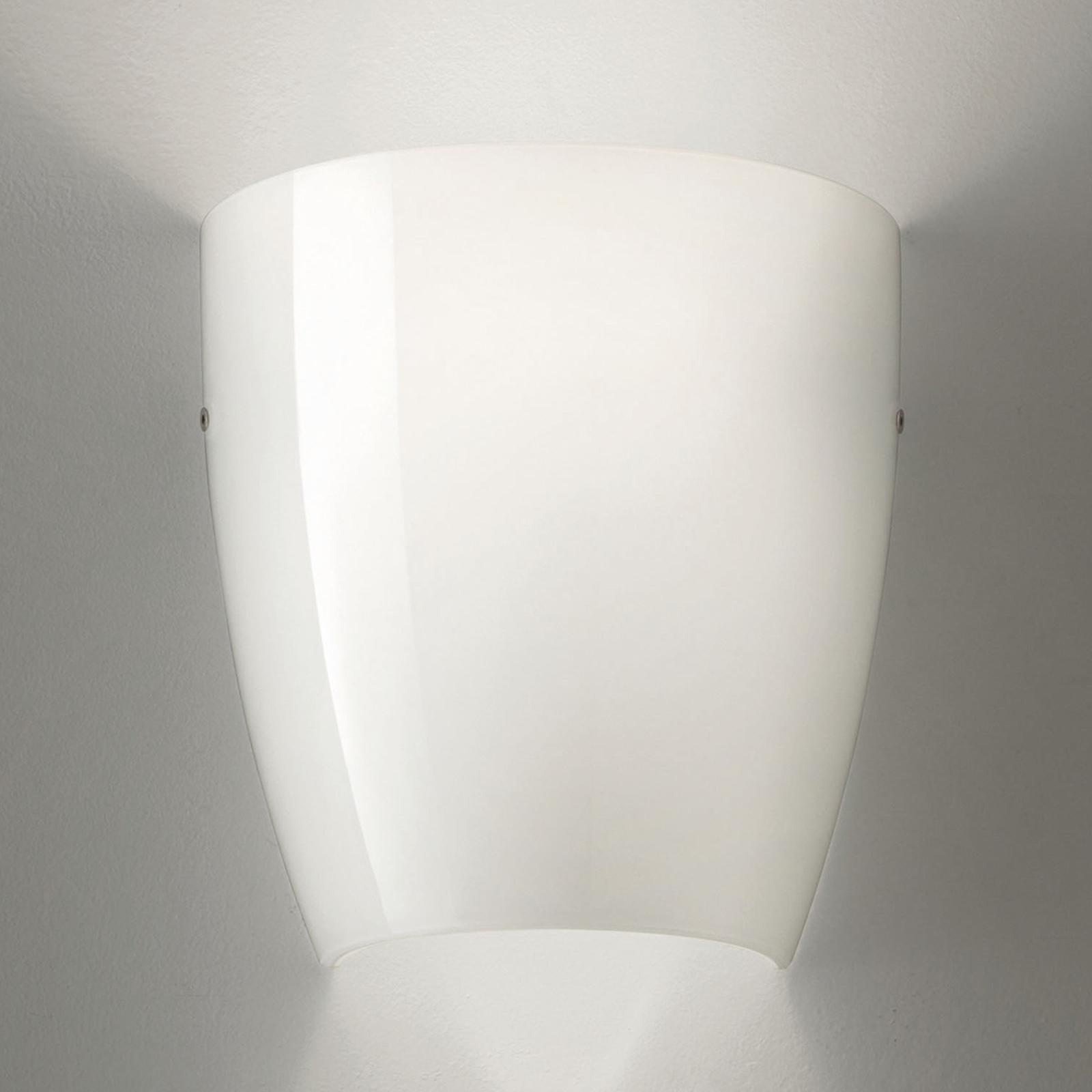 Dafne væglampe, glas, blank hvid
