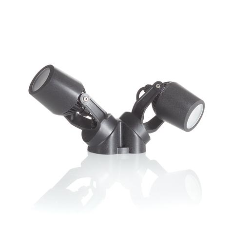 Anbau-Spot Minitommy 2-flammig CCT schwarz/frosted