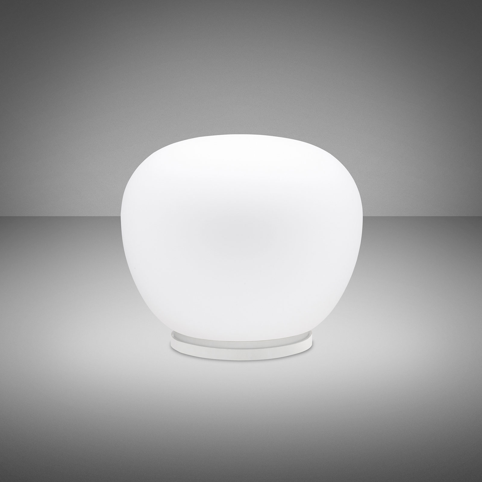 Fabbian Lumi Mochi lámpara de mesa, tumbada Ø 30cm