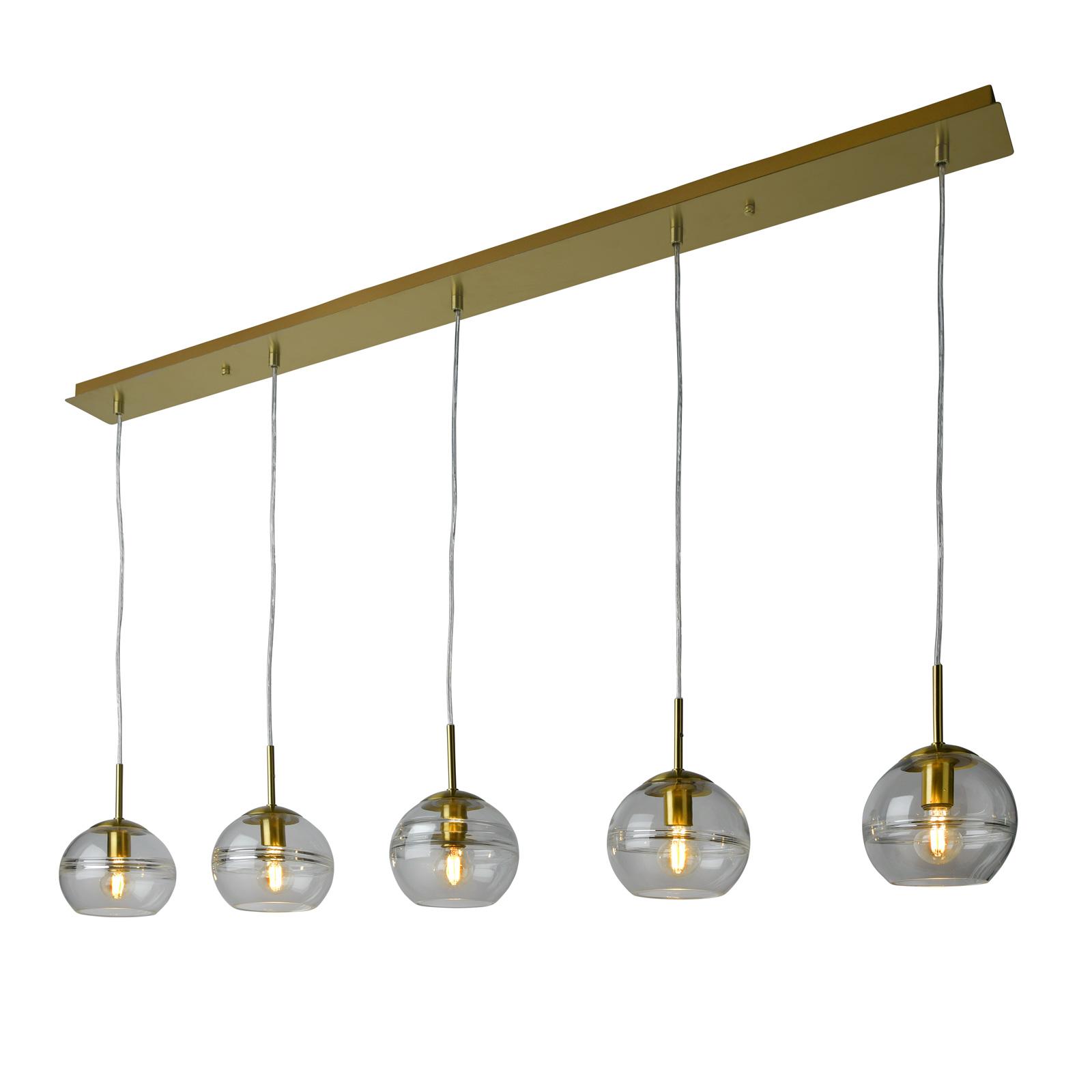 Villeroy & Boch Tokio lampa wisząca, złota 5-pkt.