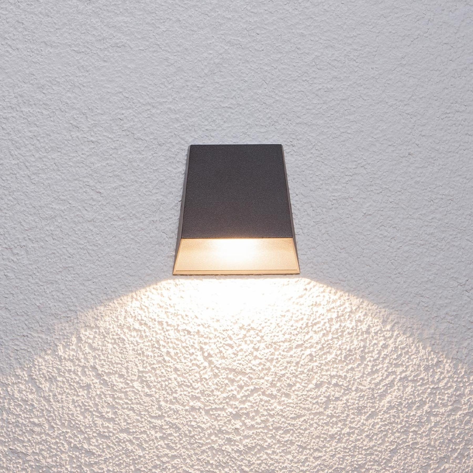 Breedstralende buitenwandlamp Hanno met led