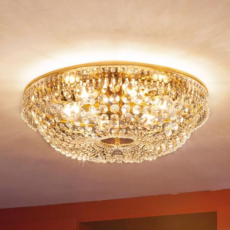Lámpara de techo cristal SHERATA redonda oro 55 cm
