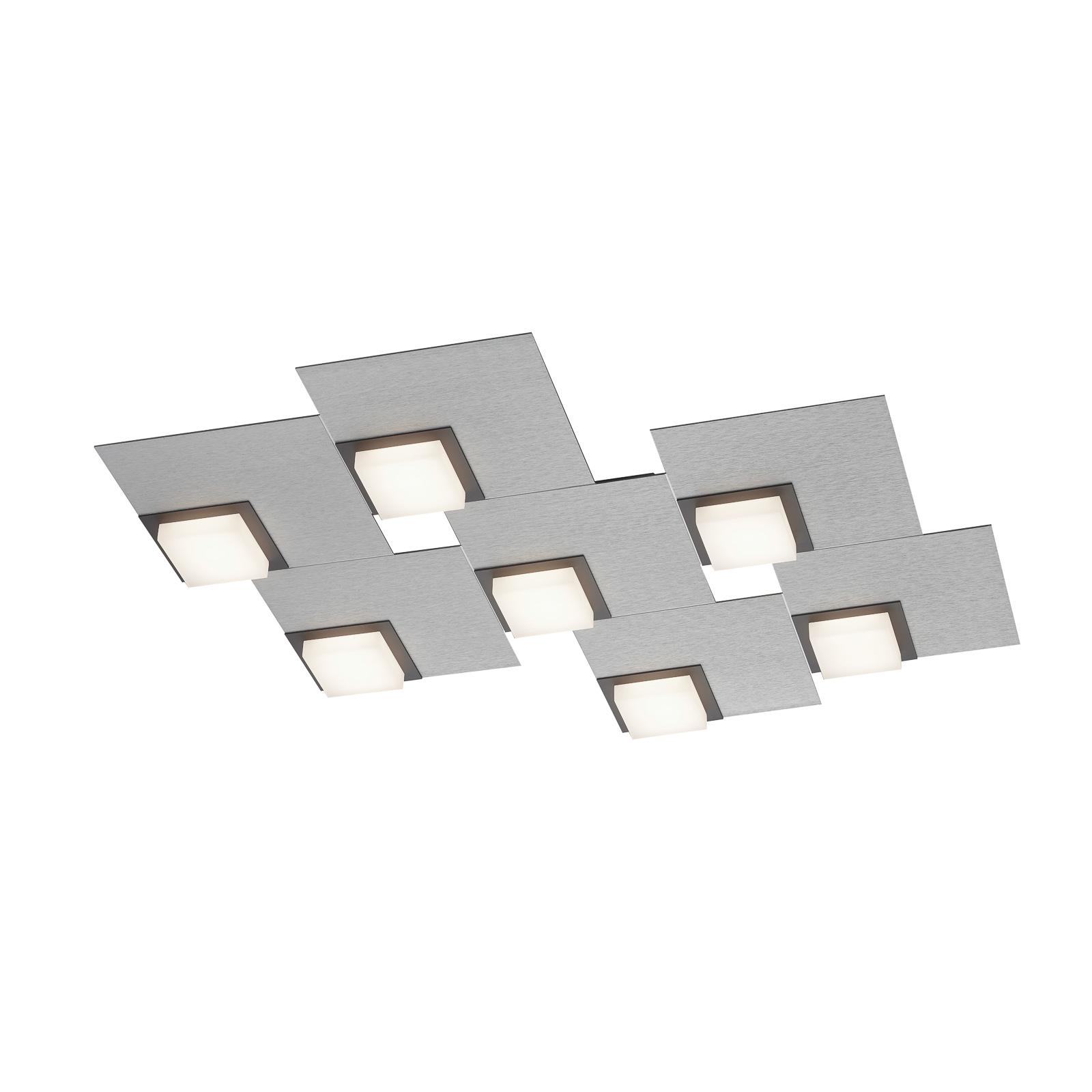 BANKAMP Quadro plafonnier LED 64W, argenté