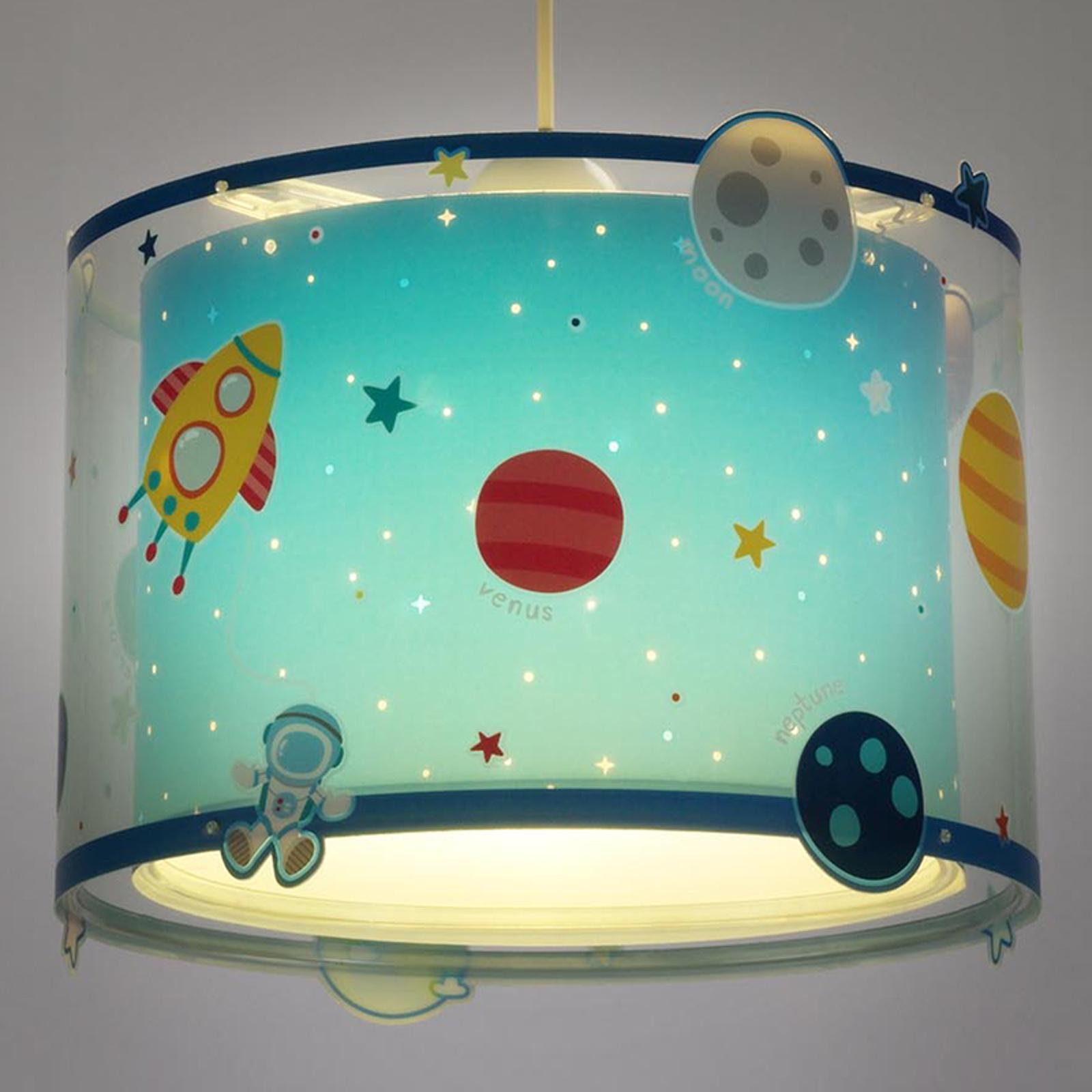 Planets - lampada a sospensione decorata per bimbi