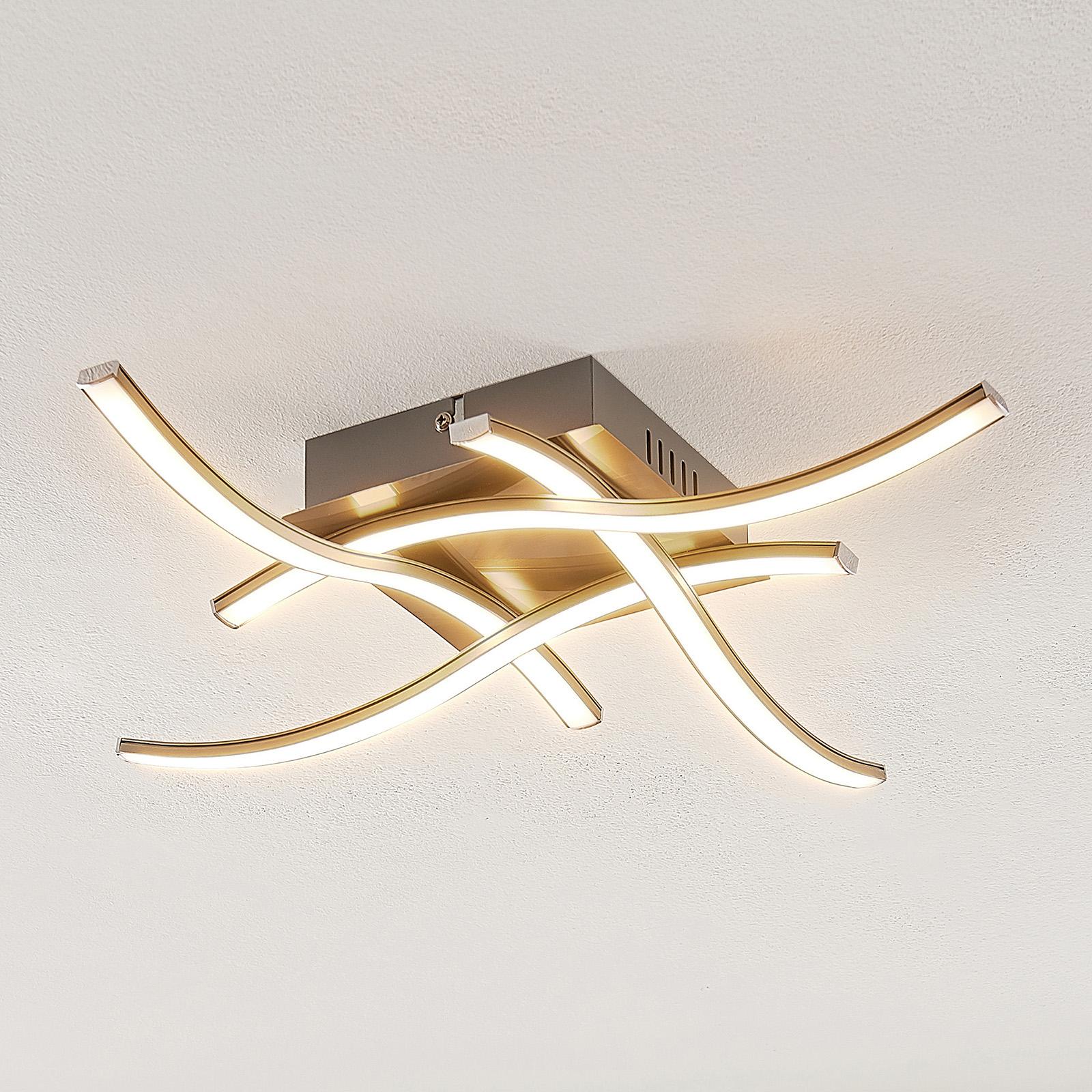 ELC Agostina LED-taklampe, nikkel