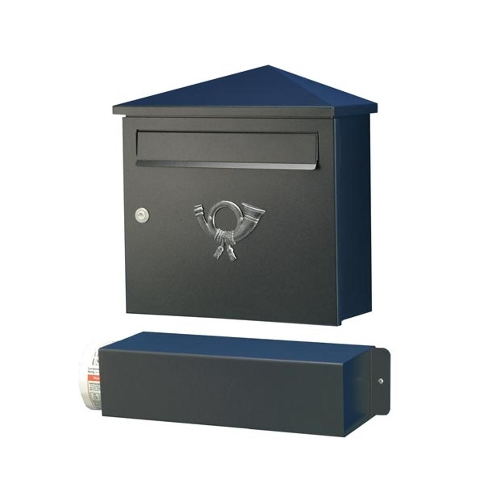 Elegante brievenbus LUCIO zwart