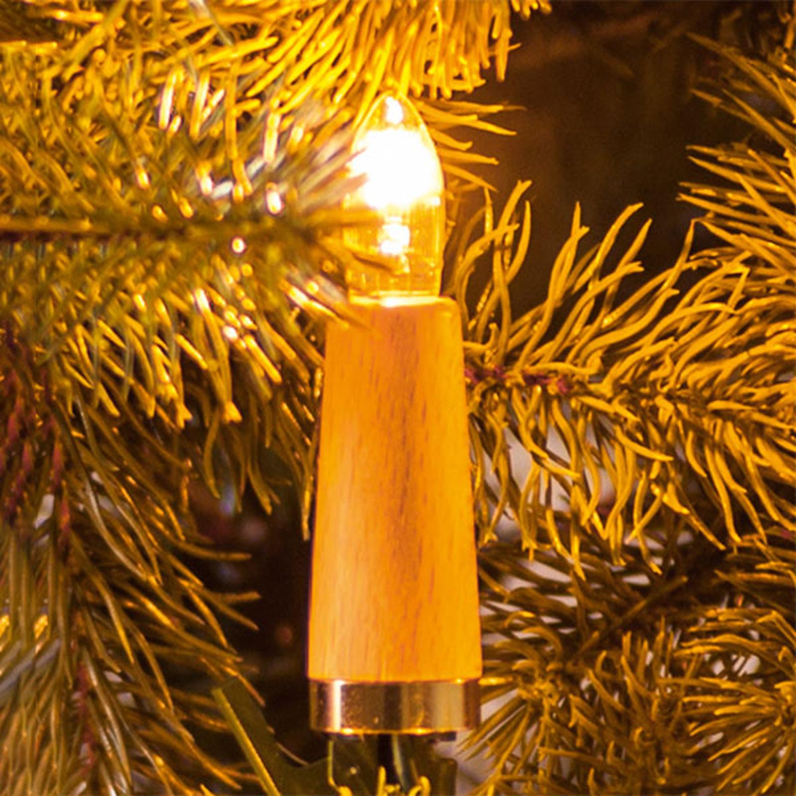 Łańcuch świetlny żebrowane świece 20-pkt jasny buk