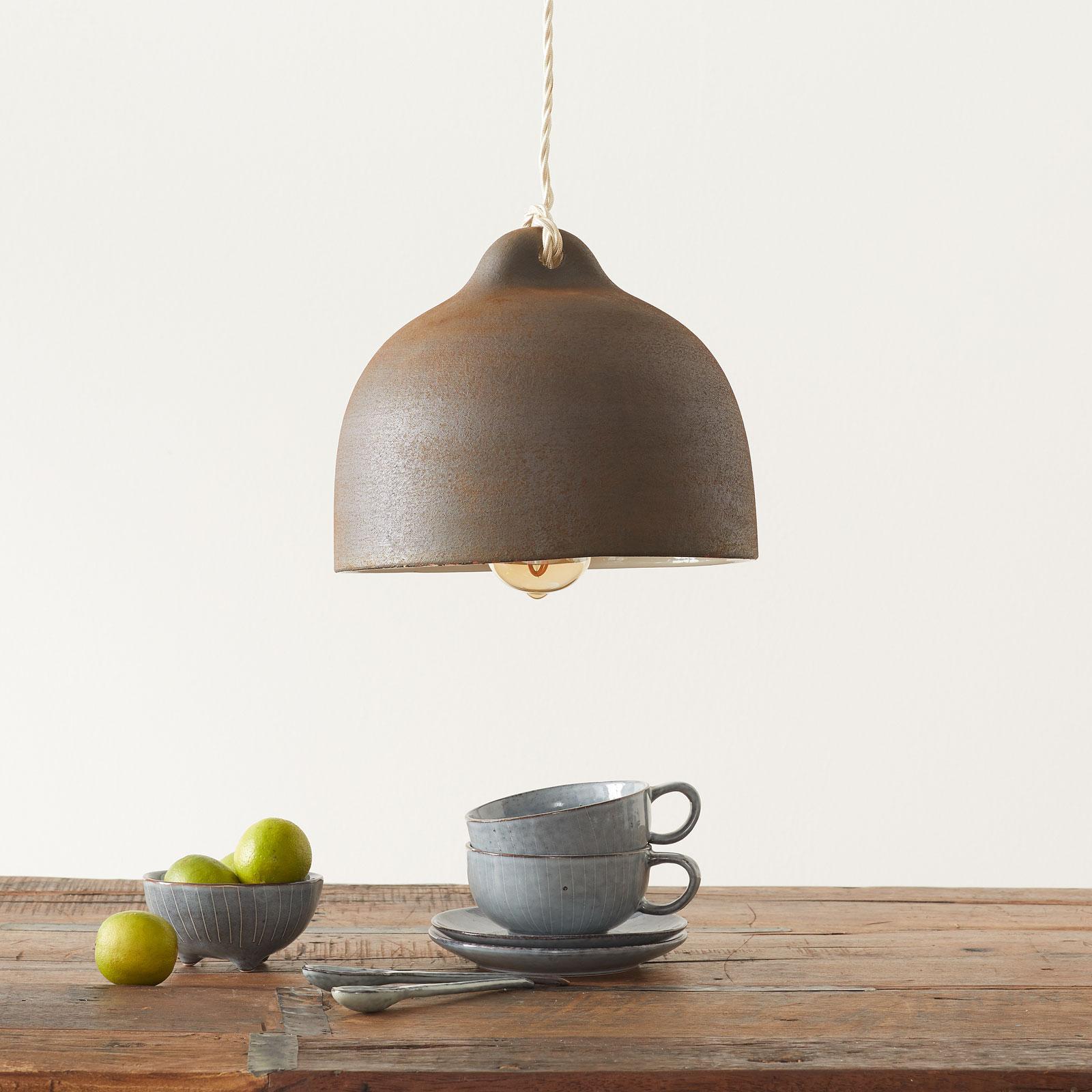 Lampada sospensione ceramica S1876, corten