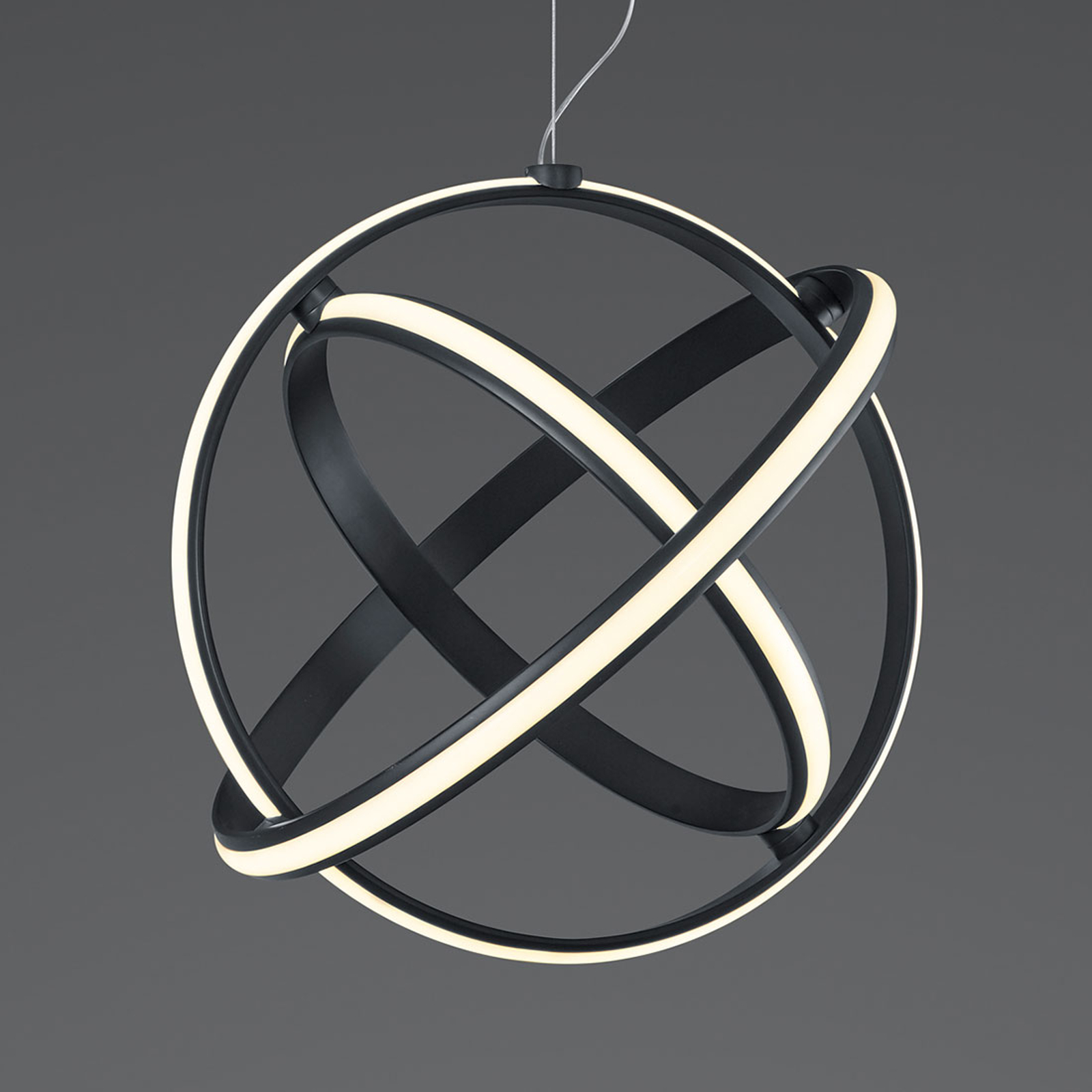 LED-Hängeleuchte Compton mit drei Lichtringen
