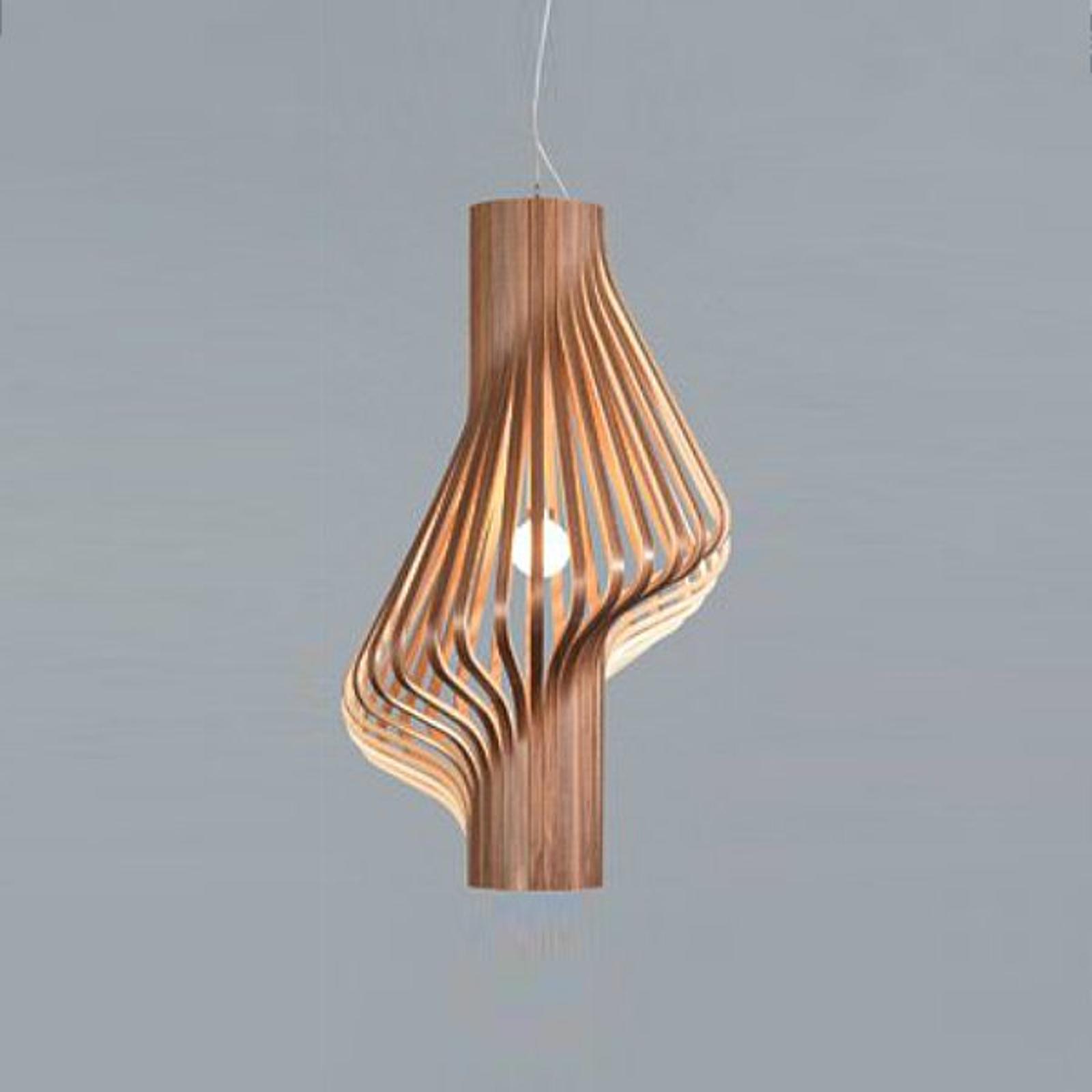 Smuk designer hængelampe Diva valnød