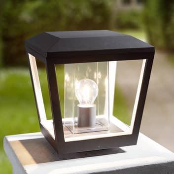 Sokkellampe Dunia med klar skjerm