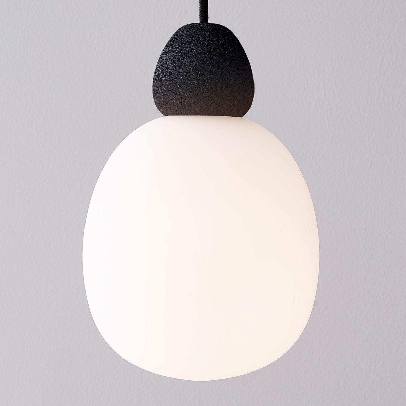 Szklana lampa wisząca Buddy zawieszenie czarne