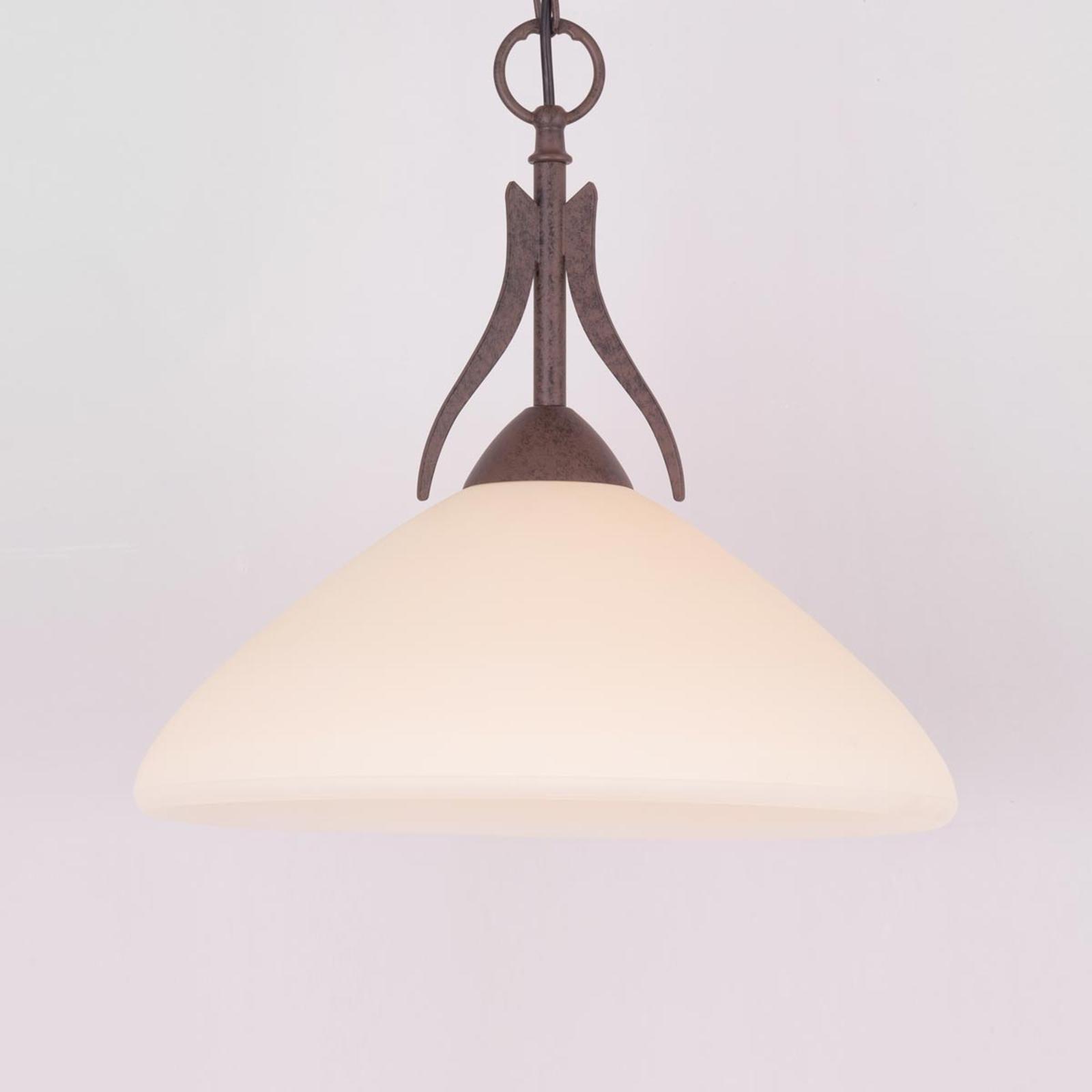 Landhuis-hanglamp Samuele, 1-lamps, crème